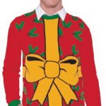 All Wrapped Up Red Ugly Christmas Sweater