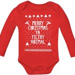Ugly Christmas Sweater Baby Long Sleeve Onesie