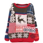 Christmas Deer Knitwear Long Sleeve Thick Sweater