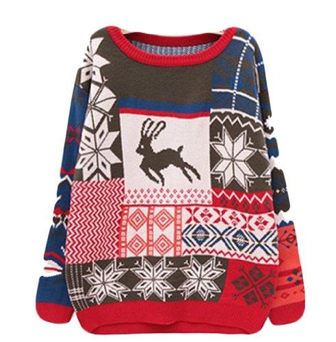 com : Buy reindeer sweater with deer pull men winter fashion deer