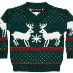 Children's Reindeer Games Holiday Sweater in Green
