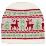 "Moose ""Ugly Christmas Sweater"" Knit Cap"