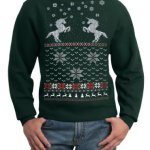 Ugly Christmas Sweater Unicorn Pullover Sweatshirt