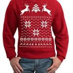 Christmas Sweater Reindeer in Snow Sweatshirt