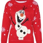 Snowman Olaf Knitted Christmas Jumper With 3D Nose Sweatshirt for Women