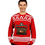 Fireplace Ugly Christmas Sweater