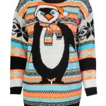 Women's Aztec Penguin Christmas Jumper