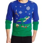 Dinosaur Reindeer Buffet Ugly Christmas Sweater