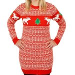 Tacky Reindeer Christmas Sweater Dress