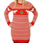 Tacky Reindeer Christmas Sweater Dress