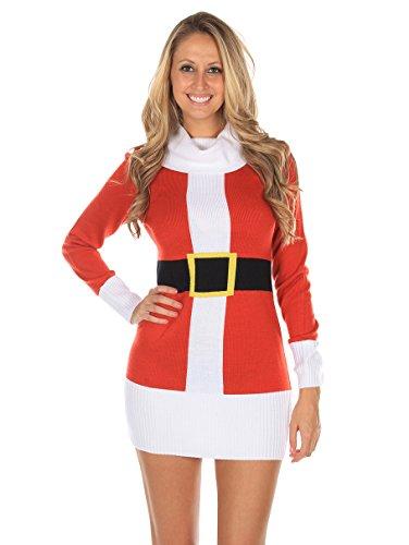 Santa Claus Christmas Sweater Dress
