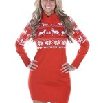 Fair Isle Christmas Sweater Dress