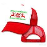 Reindeer Snowflake Mesh Trucker Hat