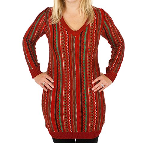 Christmas Kosby Women s Sweater Dress in Red - Ugly Christmas Sweater