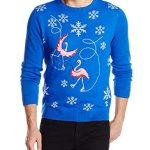 Alex Stevens Men's Skating Flamingo Attack Ugly Christmas Sweater
