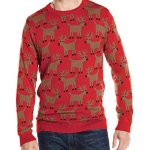Alex Stevens Men's Reindeer Herd Ugly Christmas Sweater