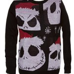 Mens Jack Skellington Christmas Sweater