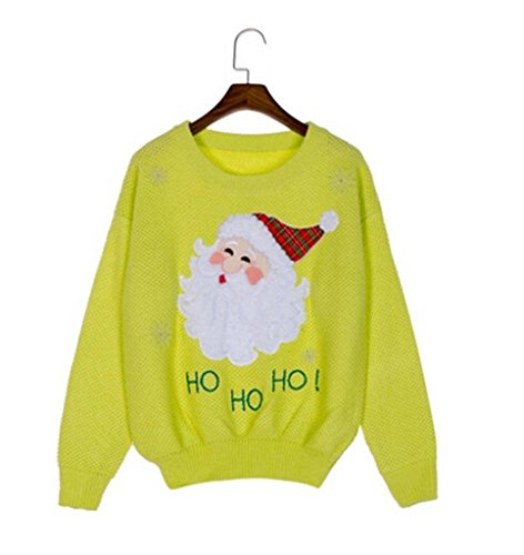 Women s santa claus embroideried snowflake pullover knit