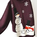 Melting Snowman Ugly Christmas Sweater - Plus Size