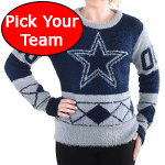 Womens Eyelash NFL Football Sweater - Pick Your Favorite Team