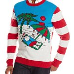 Santa at the Beach Light Up Ugly Christmas Sweater
