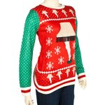 Womens Leg Lamp Ugly Christmas Sweater