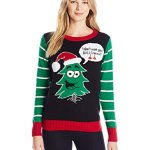 Ugly Christmas Sweater Women's Christmas Tree Pullover Sweater