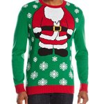 Men's Santa Body Ugly Christmas Sweater with Lights