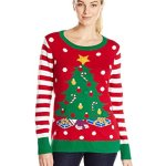 Women's Light Up Christmas Tree Ugly Christmas Sweater