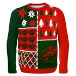 NHL Hockey Ugly Sweater - Busy Block Design - Pick a Team