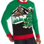 Men's Light Up Ugly Sweater with Reindeer and Christmas Tree