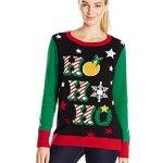 Women's Ho Ho Ho Ugly Christmas Sweater with Lights