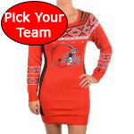 Womens NFL Football Sweater Dress - Pick Your Favorite Team