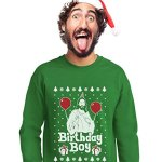 Jesus Birthday Boy Ugly Christmas Sweatshirt - Green