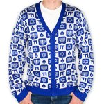 Men's Chanukah Cardigan Sweater
