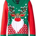 Bearded Rudolph Ugly Christmas Sweater for Girls