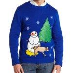 Sad Snowman Ugly Christmas Sweater