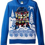 Star Wars Boys' Darth Vader and Decorated R2D2 Sweater