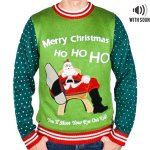 You'll Shoot Your Eye Out Santa Sweater with Sound