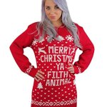 Womens Merry Christmas Ya Filthy Animal Sweater