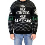 Buzz Your Girlfriend Woof! Home Alone Ugly Christmas Sweater