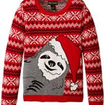 Sloth Christmas Sweater for Girls