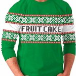 Fruit Cake & Snow Flake Holiday Ugly Christmas Sweater