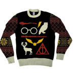 Harry Potter Owl Deathly Hallows Ugly Christmas Sweater