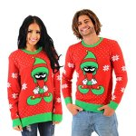 Looney Tunes Marvin The Martian Elf Sweater