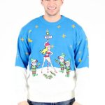 Candy Cane Stripper Pole Ugly Christmas Sweater