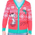 Snoopy Ugly Christmas Sweater Cardigan - Unisex
