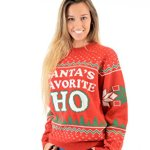 Santa's Favorite HO! Naughty Christmas Sweater for Women