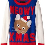 Have a Meowy Christmas Kitty Cat Sweater for Girls
