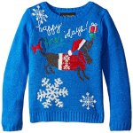 Happy Howldays Dog Ugly Christmas Sweater for Girls